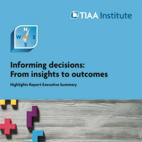 2019 TIAA Highlights Report cover