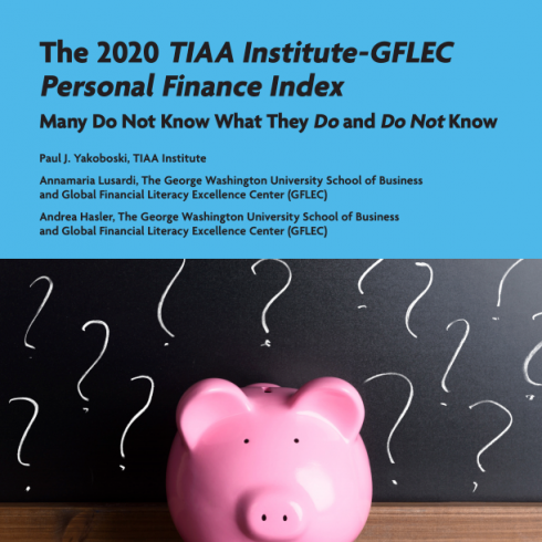 Promo Image of the 2020 TIAA Institute-GFLEC Personal Finance Index